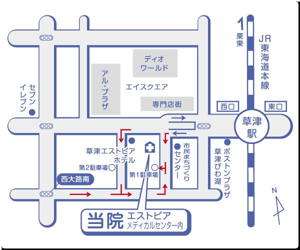 伊藤内科クリニック案内マップ