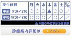伊藤内科循環器内科クリニックの診療時間表